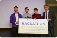 Winners of hackathon competition awarded
